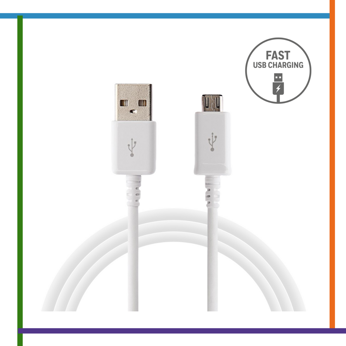 cable samsung blanco v8 fast charger